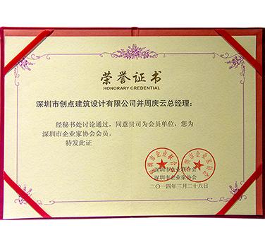 企业家协会会员证书