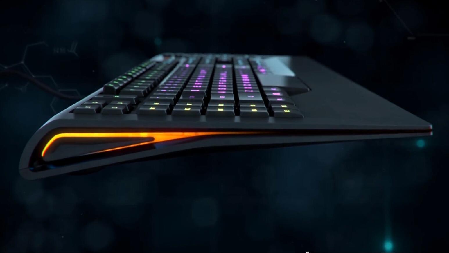 科技键盘三维动画
