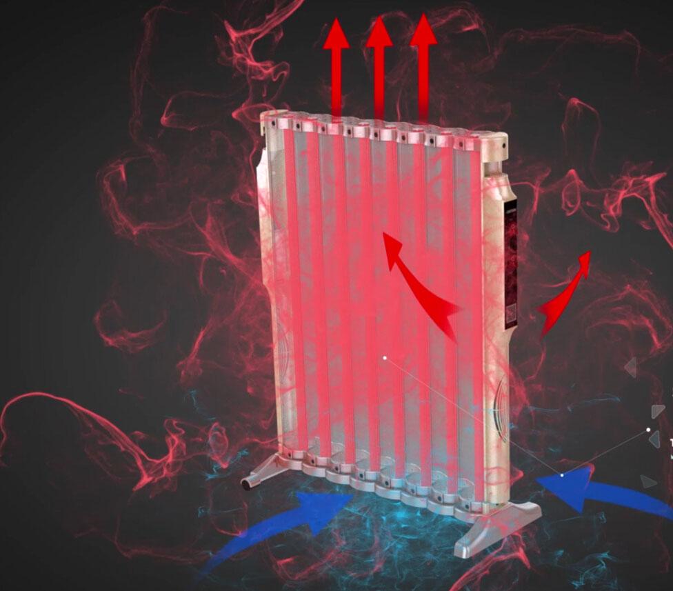 对流电暖器三维动画