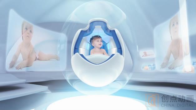 婴儿纸尿裤三维动画